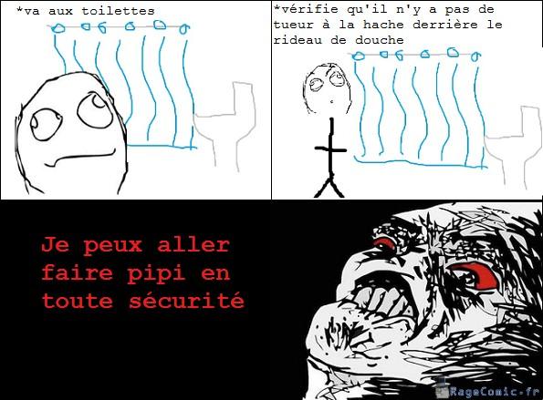 Attention au rideau de douche
