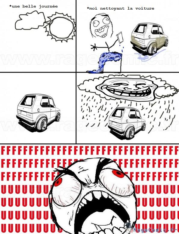 Belle journée pour laver la voiture