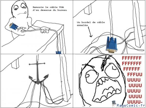 Tirer sur un câble VGA
