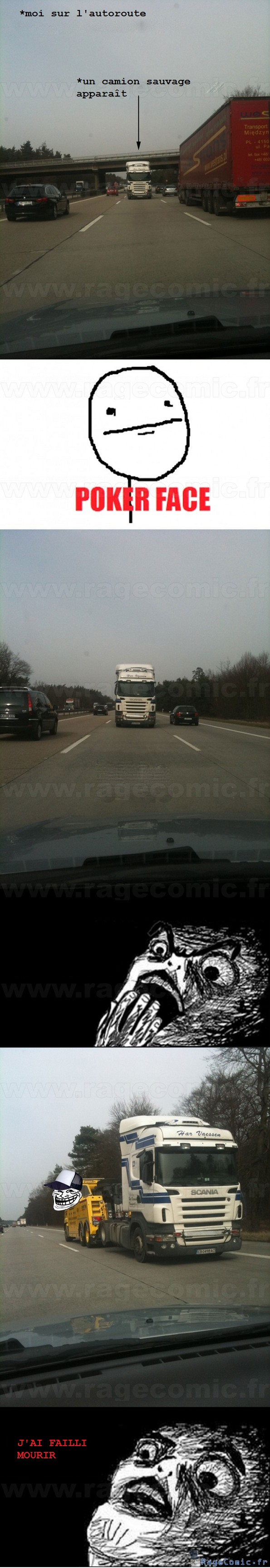 Un camion sur l'autoroute