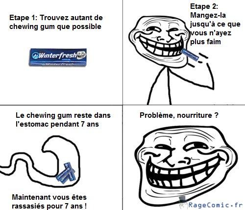 Manger du chewing-gum