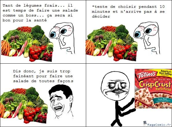 Choix de légumes