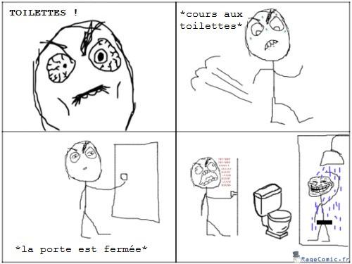 Courir aux toilettes