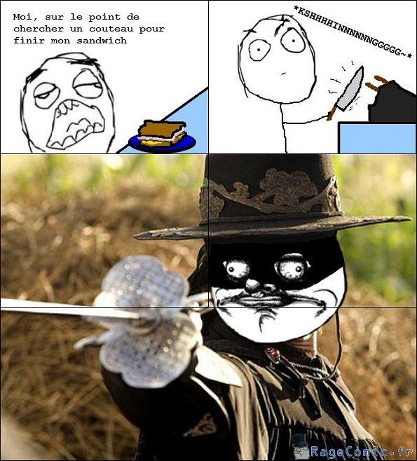 Couteau ça rime avec Zorro