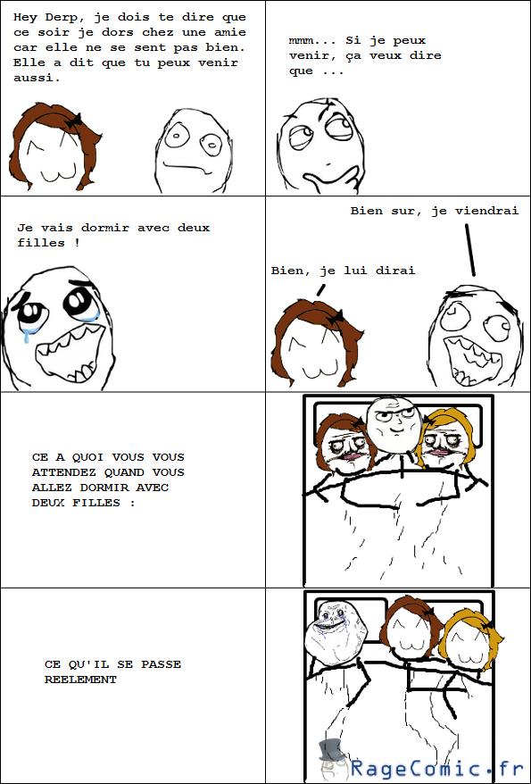 Dormir avec deux filles !