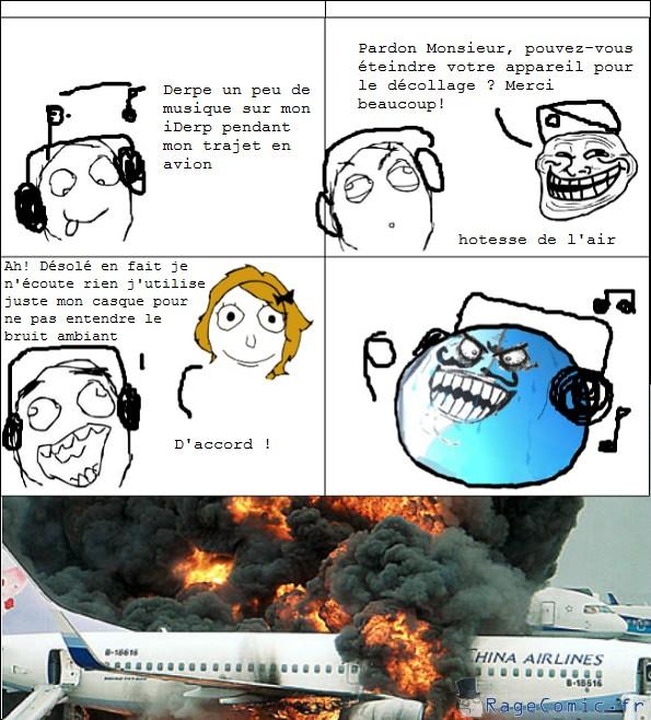 Ecouter de la musique en avion