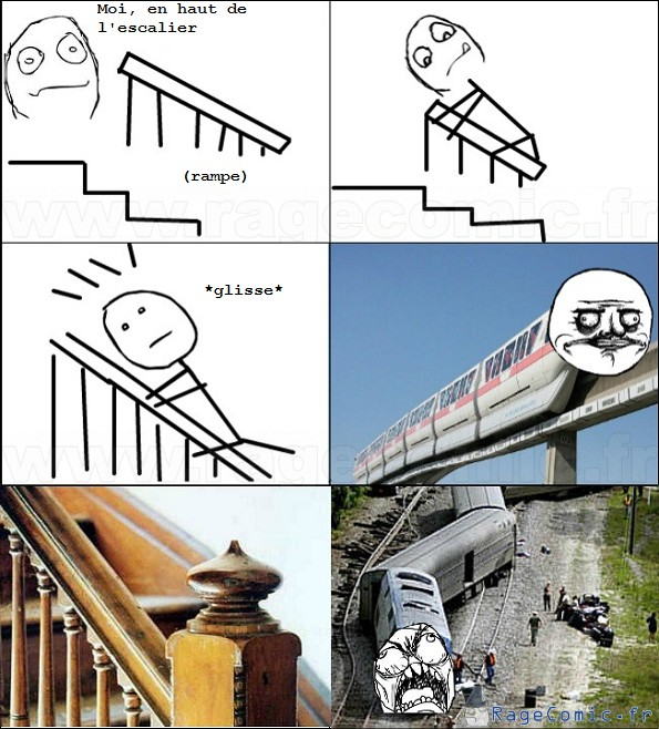 Glisse sur la rampe