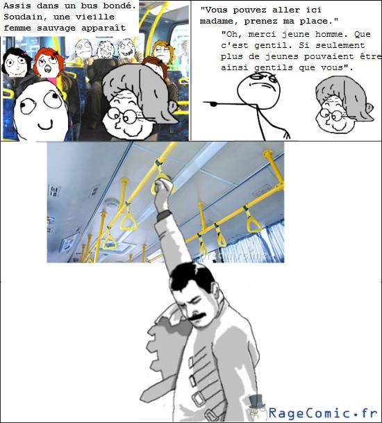 Laisser sa place dans un bus