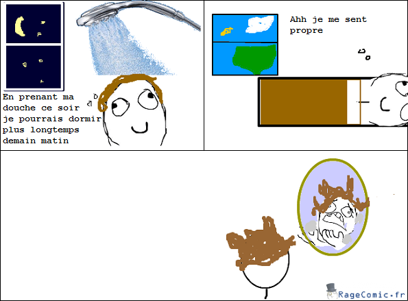 Se laver le soir