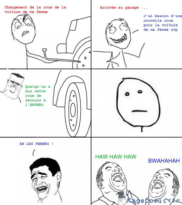 Le pneu à crevé
