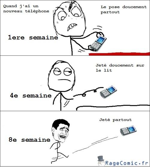 Manipuler un nouveau téléphone