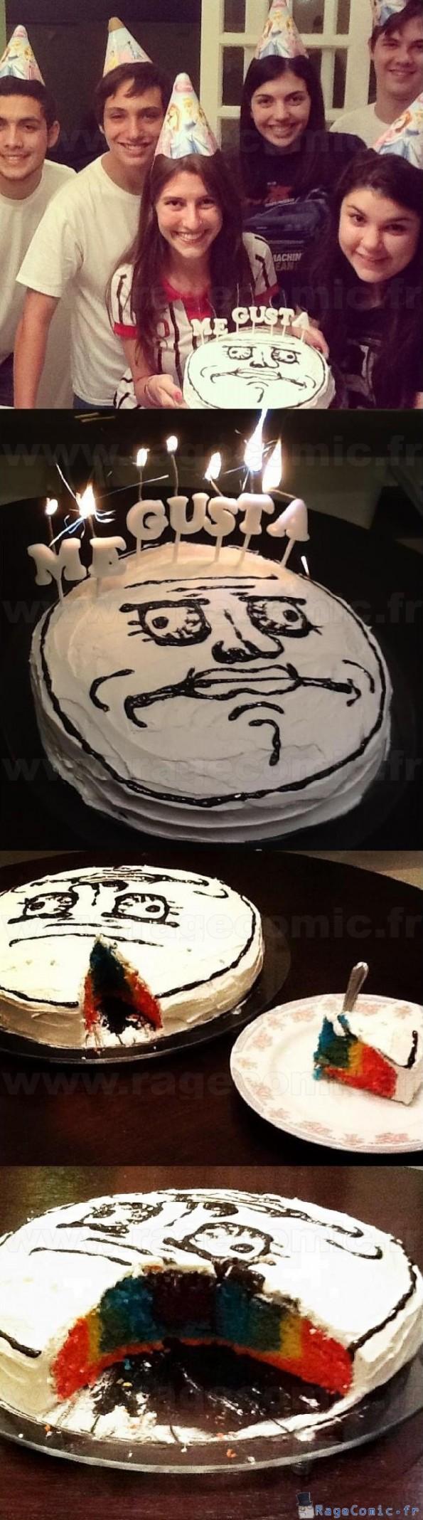 Me gusta gâteau arc-en-ciel