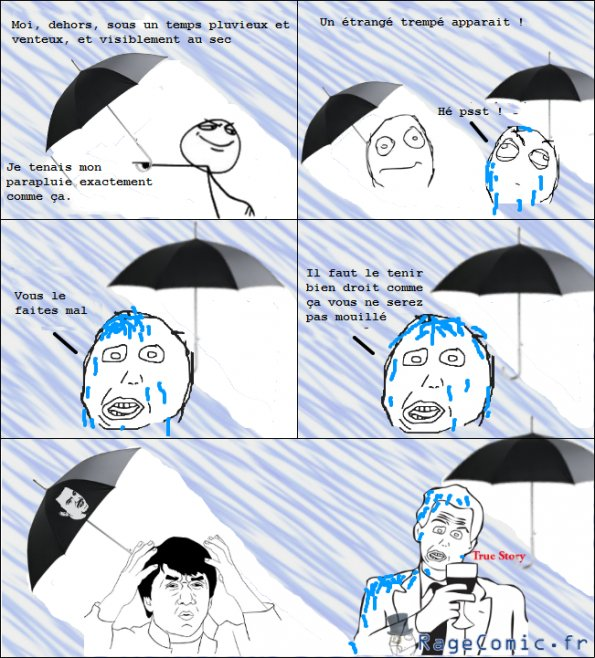 La pluie et le parapluie