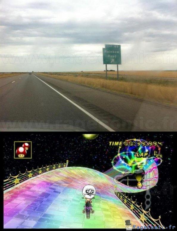 La rainbow road existe