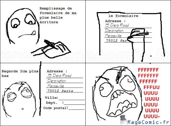 Remplissage de formulaire
