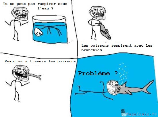 Respirez sous l'eau avec un poisson