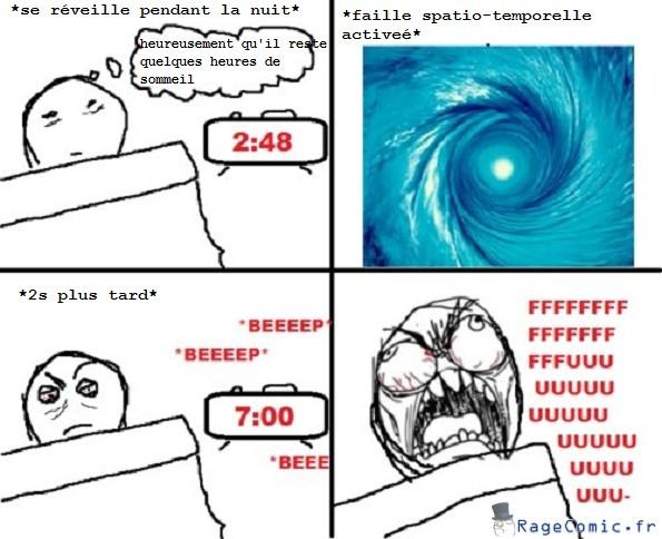 Réveil au milieu de la nuit