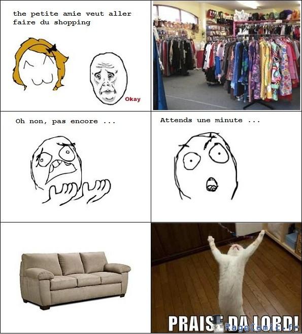 Shopping avec la copine