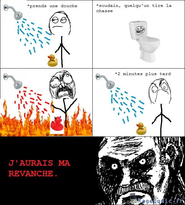 Tire la chasse sous la douche