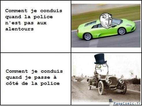La vitesse et la police